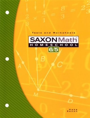 Saxon Math Homeschool 6/5: Tests and Worksheets