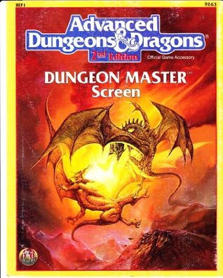 Advanced Dungeons & Dragons: Dungeon Master Screen, Ref 1, No. 9263, 2nd Edition