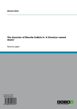 The character of Blanche DuBois in 'A Streetcar named desire'