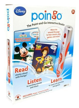 Poingo Interactive Reader with Mickey Mouse Clubhouse and Toy Story Storybooks