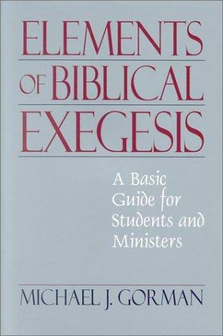 Elements of Biblical Exegesis
