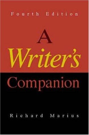 A Writer's Companion by Richard Marius