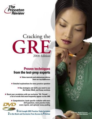 Cracking the GRE with DVD, 2008 Edition by The Princeton Review