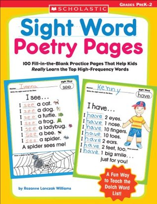 Sight Word Poetry Pages by Rozanne Lanczak Williams