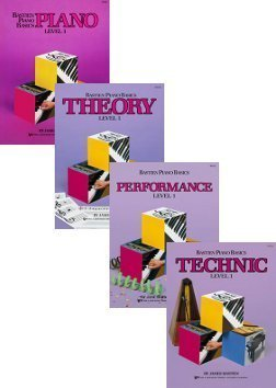 Bastien Piano Basics Set (Piano, Theory, Performance, Technic, Level 1, 4 Book Set)
