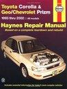 Toyota Corolla and Geo/Chev Prizm Auto Repair Manual 93-02