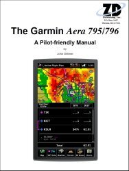 Garmin Aera 795/796 Pilot-friendly GPS Manual