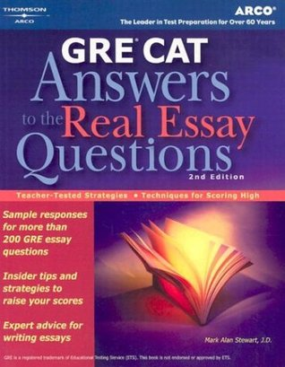 GRE CAT Answers to Real Essay Questions