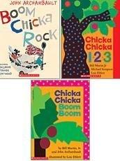 Chicka Chicka Boom Pack: 3 Books (Chicka Chicka Boom Boom; Chicka Chicka 1 2 3; Boom Chicka Rock)