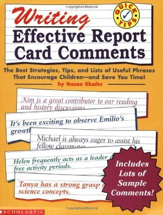 Writing Effective Report Card Comments (Grades 1-6)