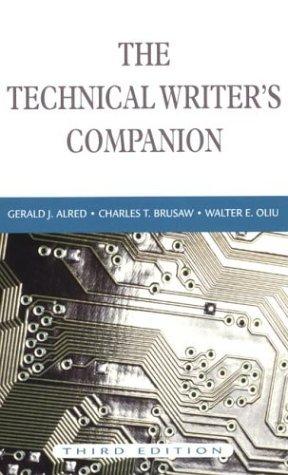 The Technical Writer's Companion DJVU PDF FB2 por Gerald J. Alred