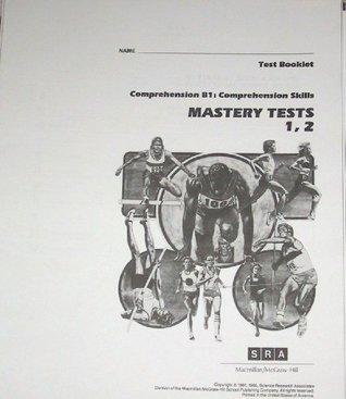 SRA Comprehension B1: Comprehension Skills, Mastery Tests 1 & 2 (Test Booklet)