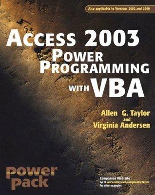 Descargar audiolibros gratis para ipod nano Access?2003 Power Programming with VBA