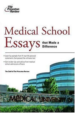 good medical school essays