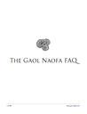 The Gaol Naofa FAQ