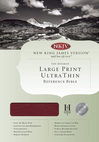 NKJV Large Print Ultrathin Reference Bible, Burgundy Genuine Leather Indexed