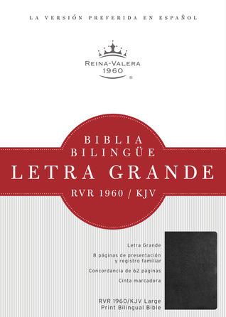 RVR 1960/KJV Biblia Bilingüe Letra Grande, negro imitación piel