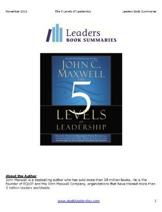 The 5 Levels of Leadership- Book Summary