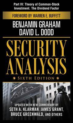 Security Analysis, Part IV - Theory of Common-Stock Investment. The Dividend Factor