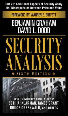 Security Analysis, Part VII - Additional Aspects of Security Analysis. Discrepancies Between Price and Value