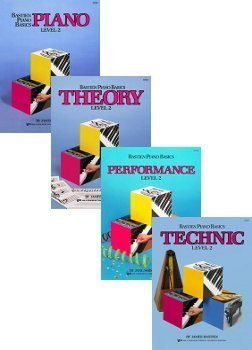 Bastien Piano Basics Set (Piano, Theory, Performance, Technic, Level 2, 4 Book Set)