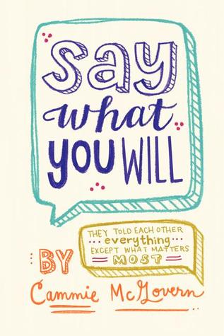 Image result for Say What You Will by Cammie McGovern