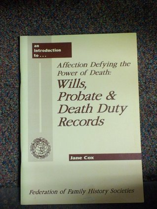 Affection Defying the Power of Death by Jane Cox