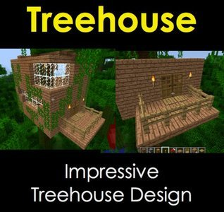 Treehouse Design for Minecraft: House Ideas Series