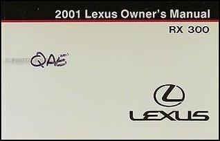 2001 Lexus RX 300 Owners Manual Original