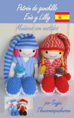 Patrón de ganchillo Evie y Lilly - Muñecas con vestidos