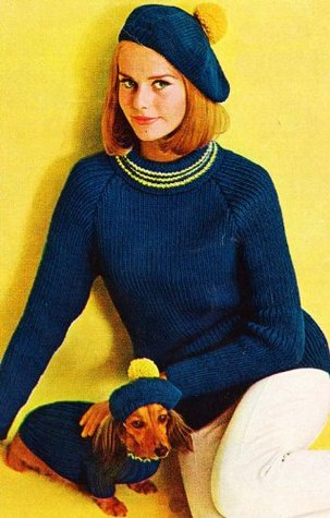 Women's & Dog's Matching Turtleneck Sweater & Tam Knit Knitting Pattern EBook Download