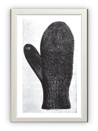 #1521 Heavy Mittens Vintage Knitting Pattern