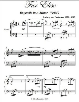 Fur Elise Beethoven Intermediate Piano Sheet Music
