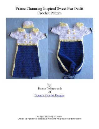 Prince Charming Inspired Sweet Pea Sleeper For Baby Crochet Pattern