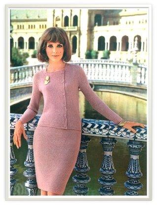 #0142 GIRALDA DRESS VINTAGE CROCHET PATTERN