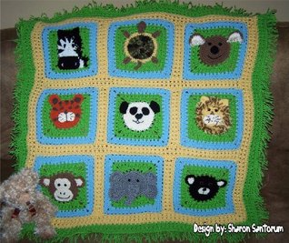 A Day at the Zoo baby afghan or blanket crochet pattern