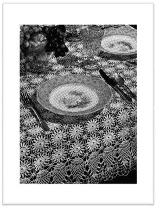 #2352 Celia Table Cloth Vintage Crochet Pattern