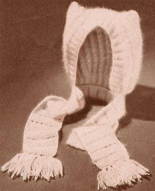 Pussycat Baby Bonnet Cap Hat Vintage Knit Kntting Pattern EBook Download