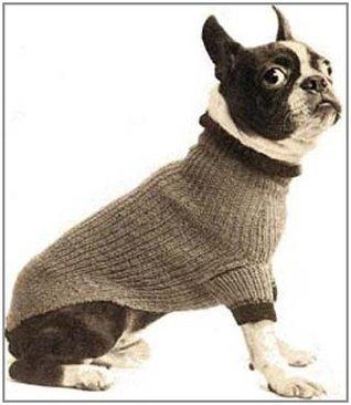 Boston Terrier Size Dog Blanket Turtleneck Sweater Coat Vintage Knitting Knit Pattern EBook Download