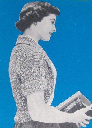 Super Easy Jiffy Shrug Bolero Knitting Pattern Vintage Knit EBook Download