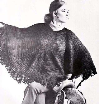 Easy Double Crochet Hippie Poncho Pattern EBook Download