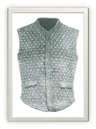 #1101 MEN'S BICYCLE AND GOLF VEST VINTAGE CROCHET PATTERN