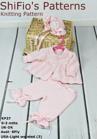 27 - Ribbon & Roses Baby Knitting Pattern UK