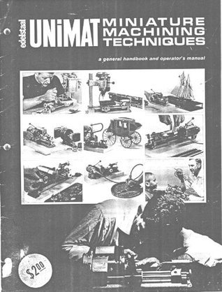 Unimat SL/DB 1000 Lathe/Milling Machine Manual