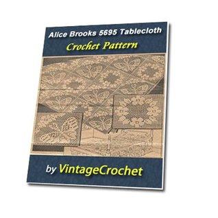 Alice Brooks Filet Squares 5695 Vintage Crochet Pattern eBook