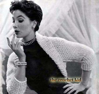 Knit Bulky Shrug Bolero Vintage Knitting Pattern EBook Download