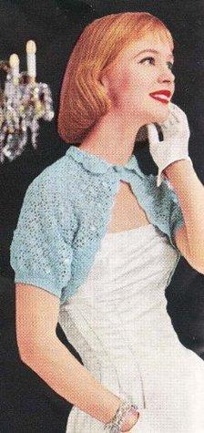 Sparkly Evening Shrug Bolero Vintage Crochet Pattern EBook Download