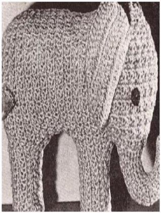 #0660 THE PINK ELEPHANT VINTAGE CROCHET PATTERN