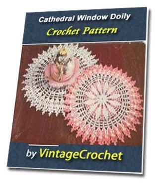 Cathedral Window Doily Vintage Crochet Pattern eBook