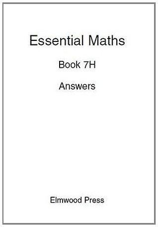 Essential Maths: Answers Bk. 7H